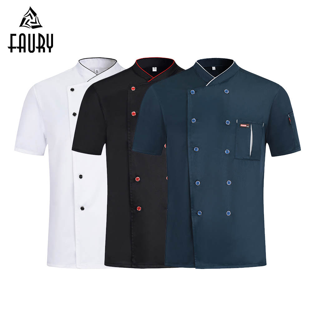 Unisex Chef Uniform Teahouse Work Clothes Breathable Unisex Shirt Wholesale Hotel  Barbershop Overalls Kitchen Bakery Dessert