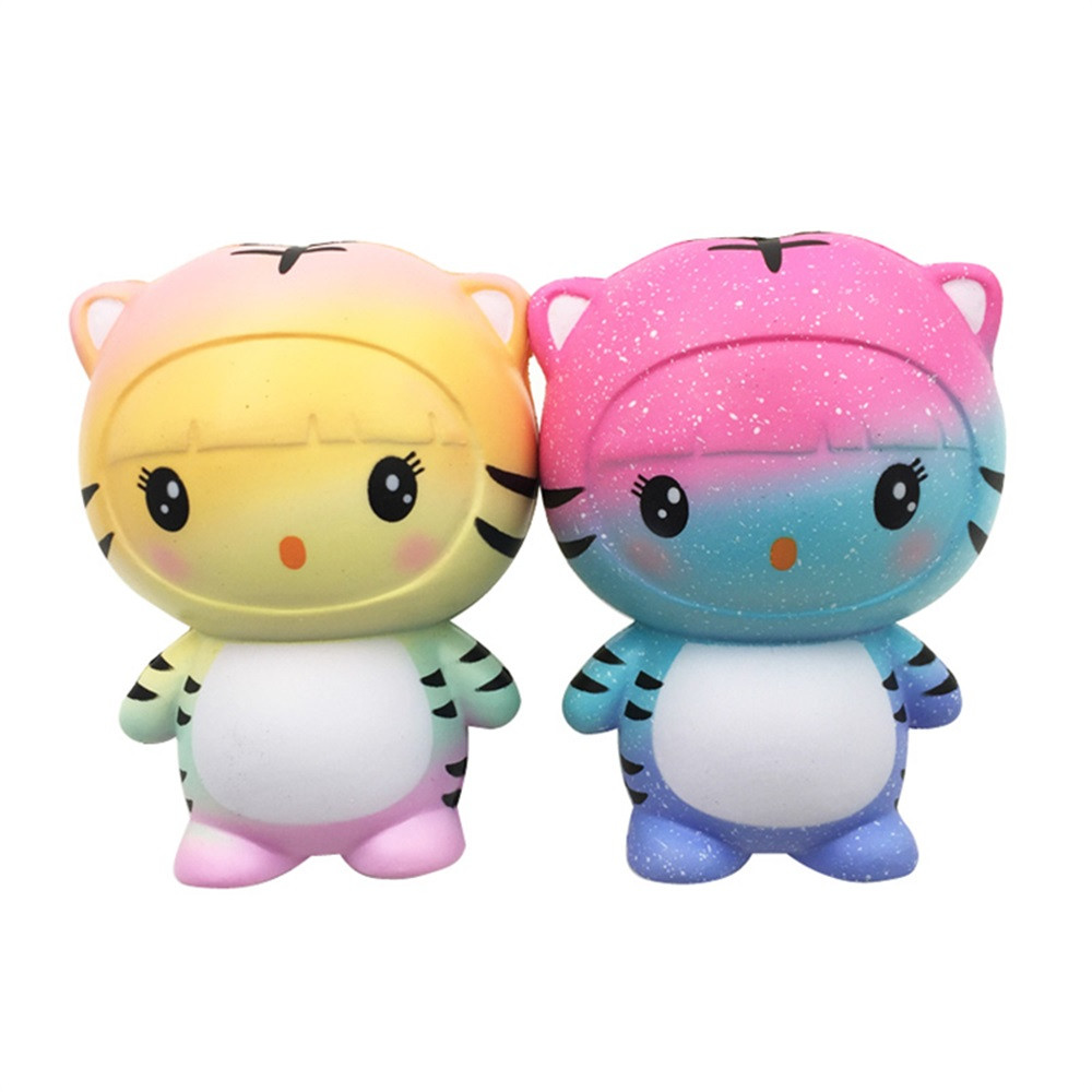Squishy Toys Kawaii Animalitos Cartoon Antistress Cute Tiger Cute Tiger Squeeze Slow Rising Cream Scented Cure Decor Fun FE28d