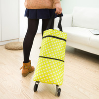 2017 Portable Oxford Portable Foldable Bag New Reusable Shopping Bag Trolley Shopping Bag Shopping Cart Wholesale