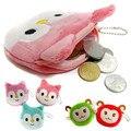Promoções New Bonito Crianças Mini sacos de Moedas Ocasional Encantador Dos Desenhos Animados Fox Ovelhas Bolsa Meninas Pequenas Carteira para Presente Das Crianças