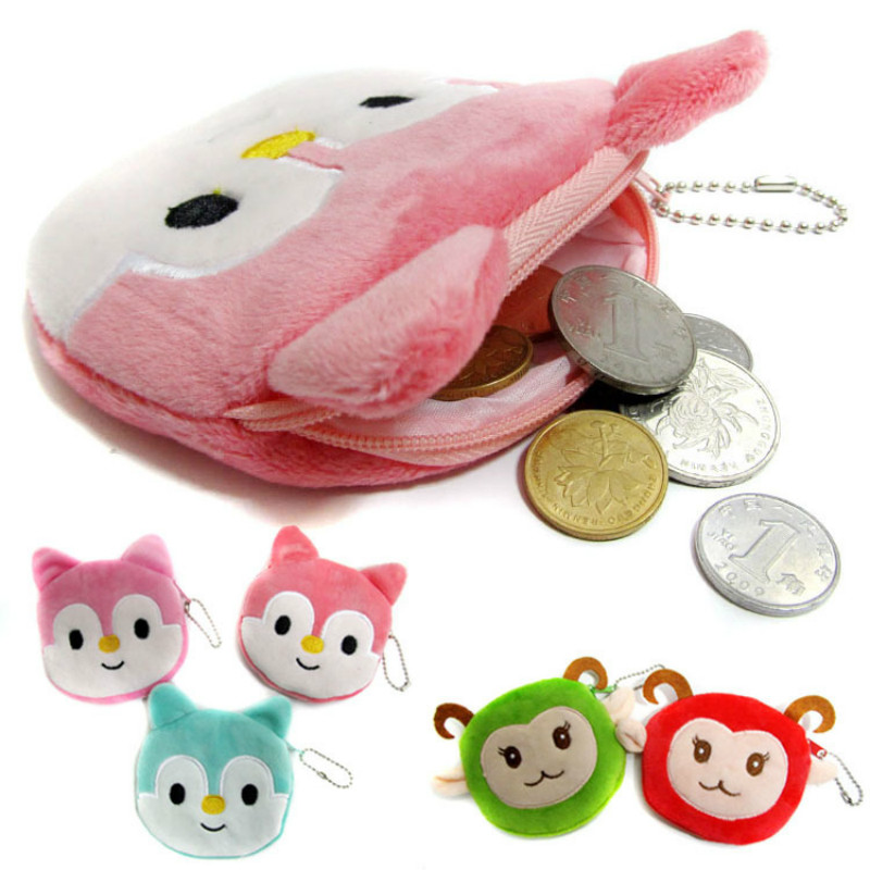Specials New Cute Kids Mini Coin bags Casual Cartoon Lovely Fox Sheep Purse Girls Small Wallet for Children Gift new brand mini cute coin purses cheap casual pu leather purse for coins children wallet girls small pouch women bags cb0033