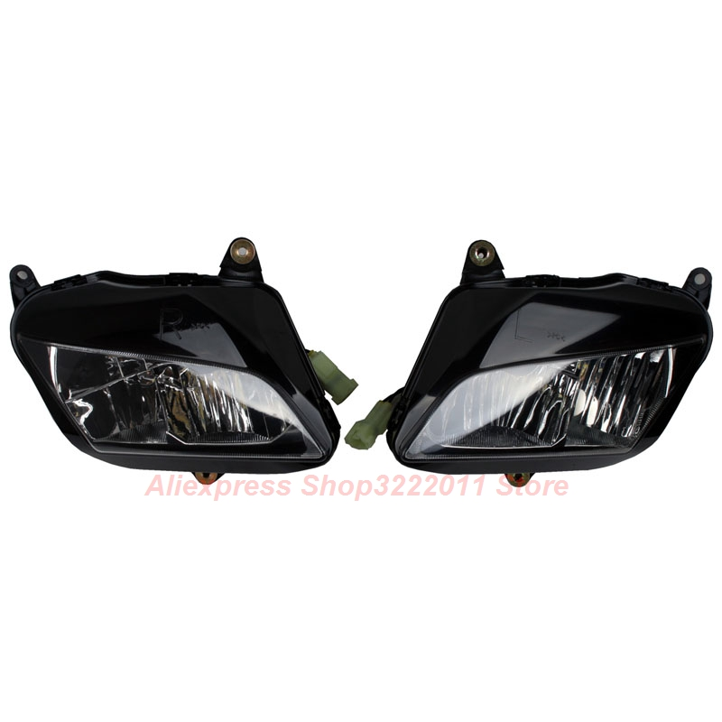 Clear Lens Motorcycle Plastic Front Light Lamp Case For Honda CBR600RR 2007 2008 2009 2010 2011 Headlight Housing Set arashi motorcycle radiator grille protective cover grill guard protector for 2008 2009 2010 2011 honda cbr1000rr cbr 1000 rr