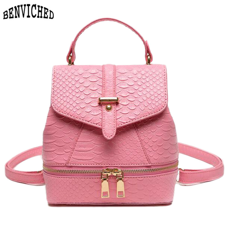 Preppy Style Pink Women Backpacks PU Leather Alligator Fashion Daily Backpack School Bags For Teenagers Girls Travel Bag подвесной унитаз ifo grandy rp213100200