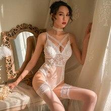 Women Sexy Bodysuit Lingerie Lace Sleepwear Hot Erotic Underwear Catsuit Porno Transparente