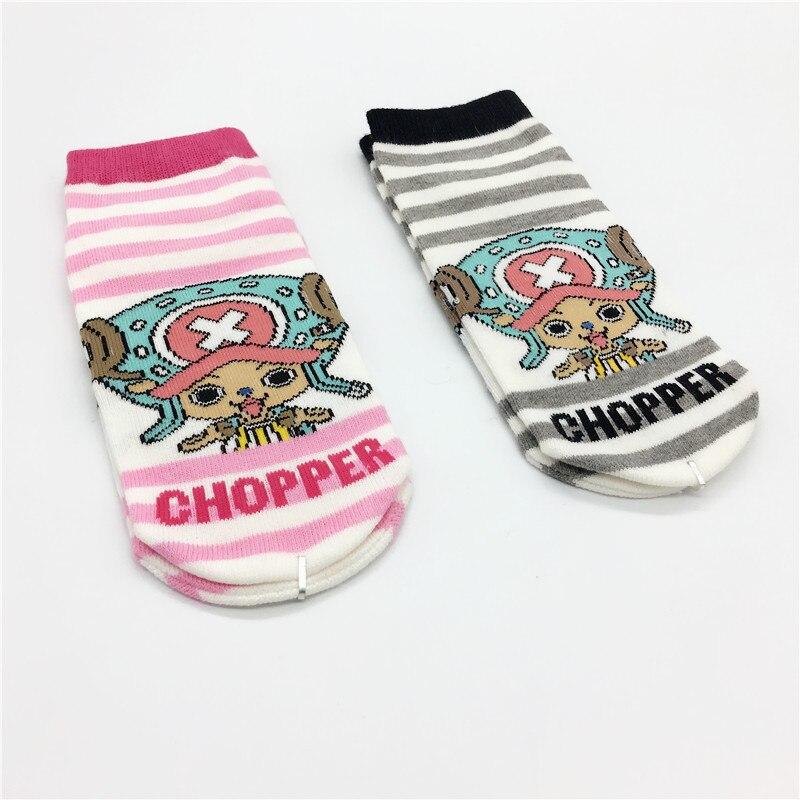 One Piece Anime Cosplay Socks Tony Choppe Fashion Funny Cute Striped Women Sock Summer Comfortable Breathable Cotton Short Socks