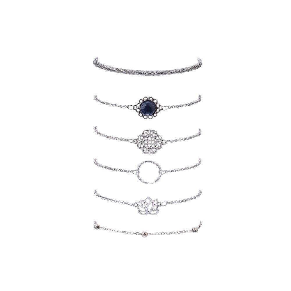 Women's Boho Style Bracelets 6 Pcs Set 3