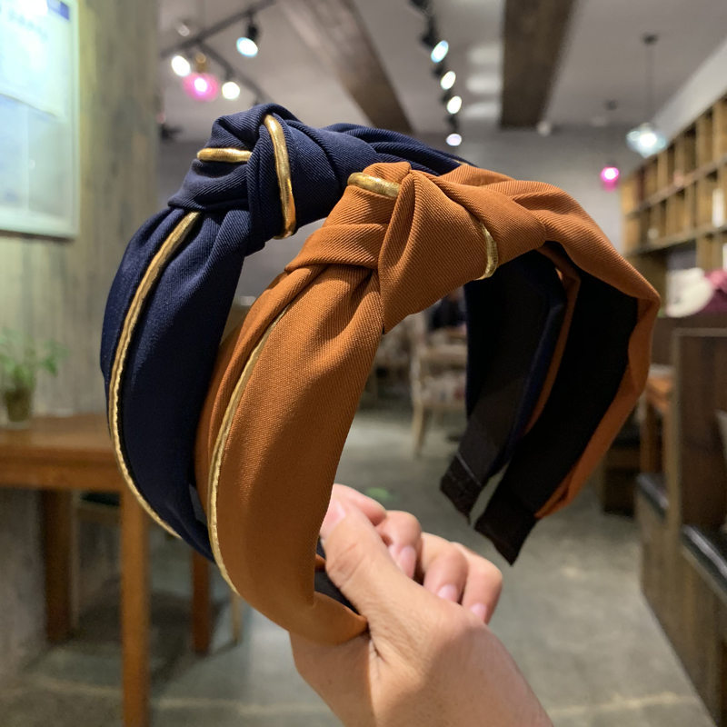 2019 New Hairband Turban for Women Phnom Penh Inlay Hair Accessories Wide Side Vintage Headband   Headwear