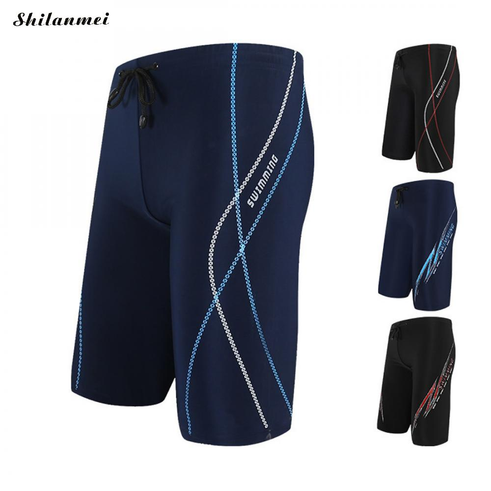 2018 Repellent Men'S Long Racing Swimming Swim Trunks Men Sport Shorts Classic Man Swimwear Men'S Briefs Swimsuit Male Beachwear