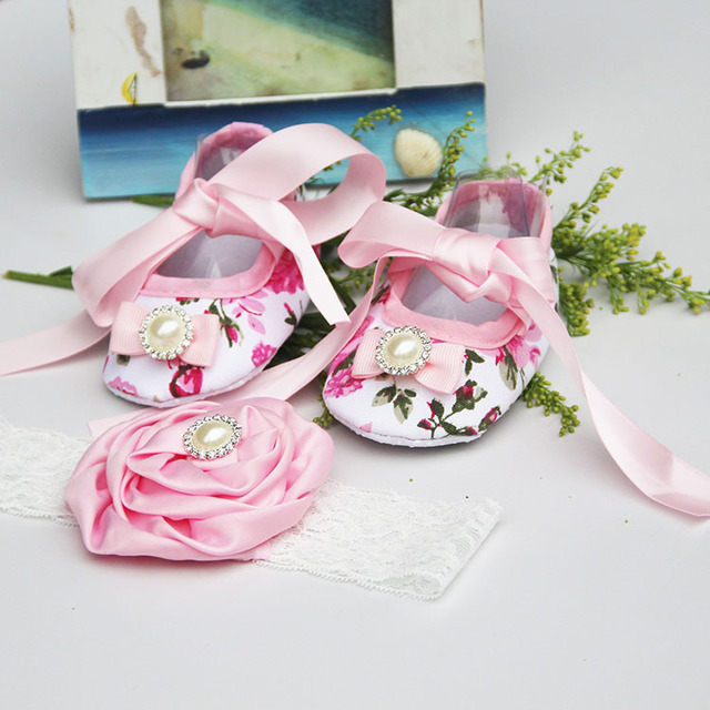 0e78f3f18ac 2015 New Girl infant tiara baby shoe white first walkers designer baby girl  shoes pink baby shoes butterfly headbands sets