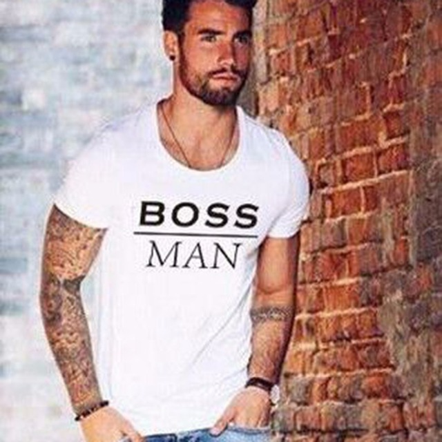 3f365be8224 BOSS tshirts New hot summer clothes Men s fashion Tee shirts Letter print  Cool pullover Cotton T