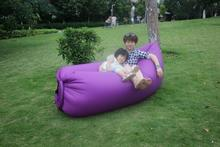fast instant air inflated bean bag chair, purple outdoor beanbag sofa seat