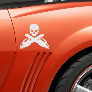 Image 5 - EmpireYing 3 Sizes 8 Colors Loggers Crossbones Skeleton Skull Car Stickers Window Bumper  Decals Arborist Forestry Chainsaw
