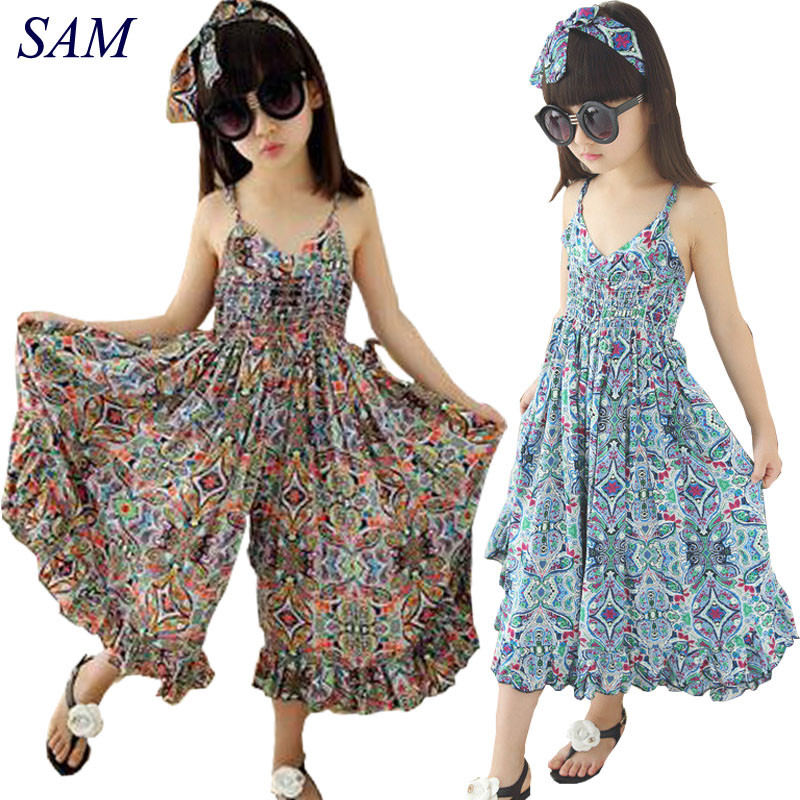 Kids Dresses For Girls Fashion Girls Dresses Summer 2018 Floral Bohemian Girl Dress Princess Novelty Kids Clothes Girls Clothes