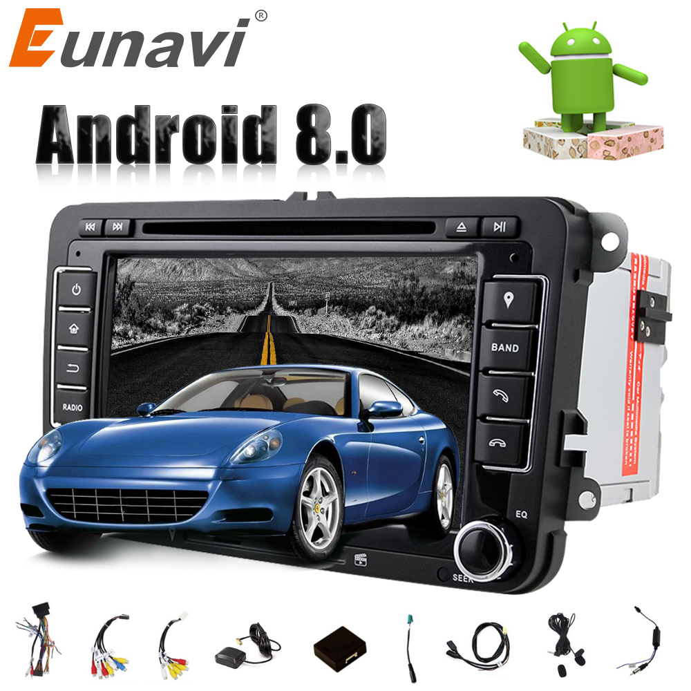 Eunavi Octa 8 Core Android 8.0 2 DIN 7 ''Car dvd player Per VW GOLF JETTA POLO TOURAM PASSAT b6 con il GPS radio stereo usb WIFI