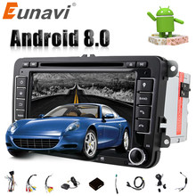 Eunavi Octa 8 Core Android 8.0 2 DIN 7'' Car Dvd Player For VW GOLF JETTA POLO TOURAM PASSAT B6 With GPS Stereo Radio Usb WIFI(China)