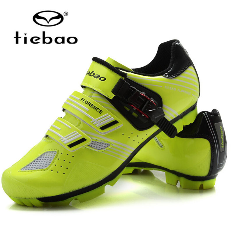 New Tiebao Cycling Shoes Bicycle Racing Sports Road Mountain MTB Cycling Shoes Breathable Athletic MTB Road
