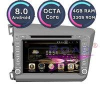 Roadlover Android 8,0 dvd плеер автомобиля радио для Honda Civic 2012 LHD стерео gps навигации Automagnitol 2Din Восьмиядерный восьмиядерный