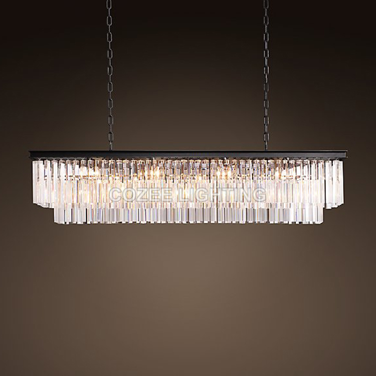 Vintage LED Chandeliers Lighting Modern Crystal Prism Chandelier Light lustre de cristal for Living Dining Room