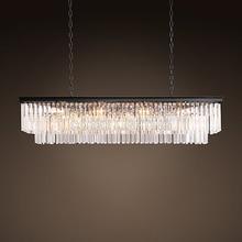 Винтаж светодио дный LED люстры освещение Современные хрустальные Люстра В Форме Призмы свет блеск de cristal для жизни обеденная Ресторан Декор