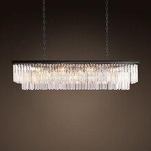 Vintage LED Chandeliers Lighting Modern Crystal Prism Chandelier Light lustre de cristal for Living Dining Room Restaurant Decor