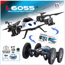 2016 Newest High Hold Mode 2 in 1 Land Or Sky RC Quadcopter Flying Car with 2.0MP Camera Drone Remote Control Toys
