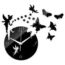Электронные 3d часы «сделай сам» с зеркальным эффектом декоративные