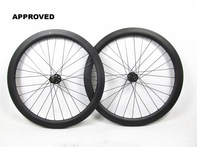 Farsports FSC50-CM-25 DT240 700c carbon cyclocross wheels with disc brake, 25 x 50mm road carbon disc brake clincher wheels