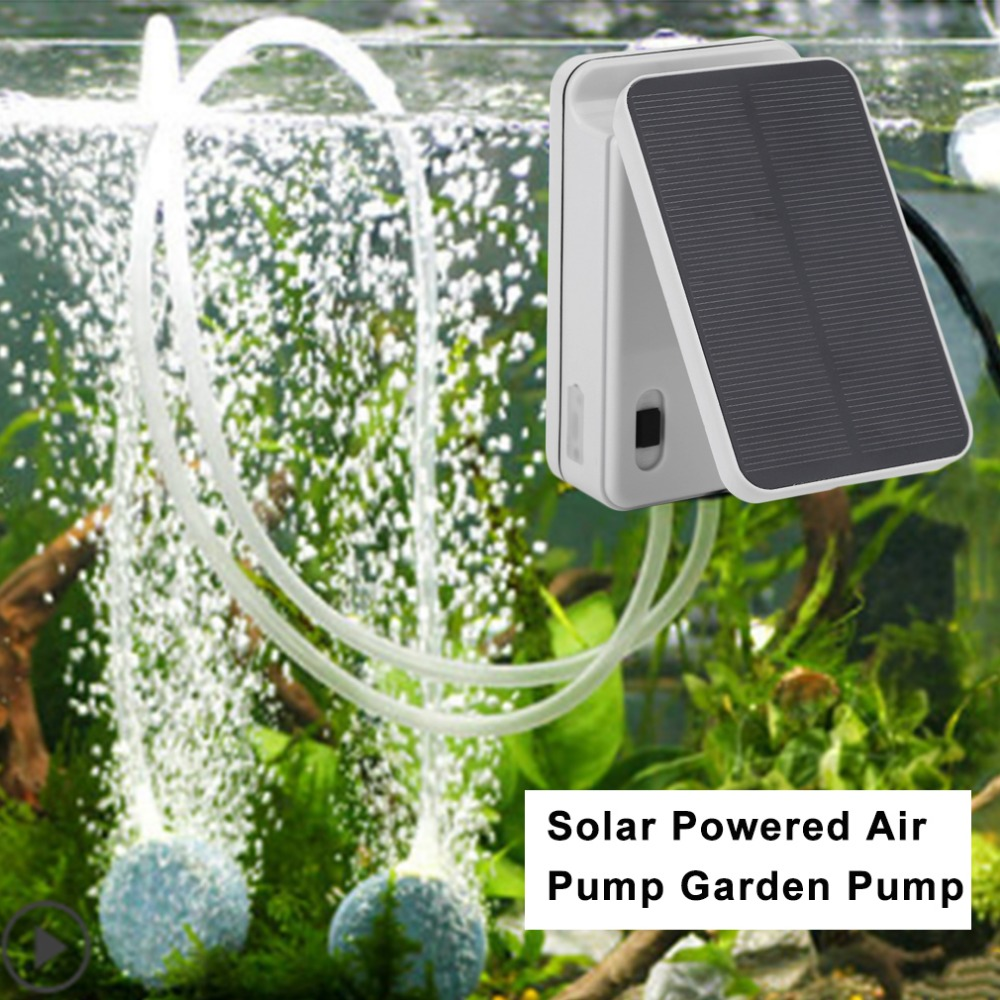 03Lmin Portable Solar Powered Air Pump Outdoor Fishing