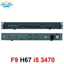 1U 6 Gigabit ethernet порт ATX Поддержка питания процессор Intel LGA1155 i5 3470 сетевой маршрутизатор брандмауэр компьютер Запуск pfsense
