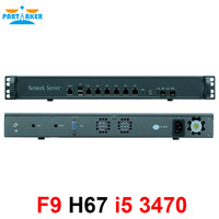 1U 6 порт Gigabit ethernet ATX Мощность Поддержка Intel LGA1155 i5 3470 процессор сети маршрутизатор брандмауэра компьютер работать pfsense