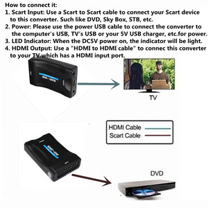Image 4 - 1080P SCART to MHL HDMI Video Audio Upscale Converter Adapter HD TV DVD Sky Box