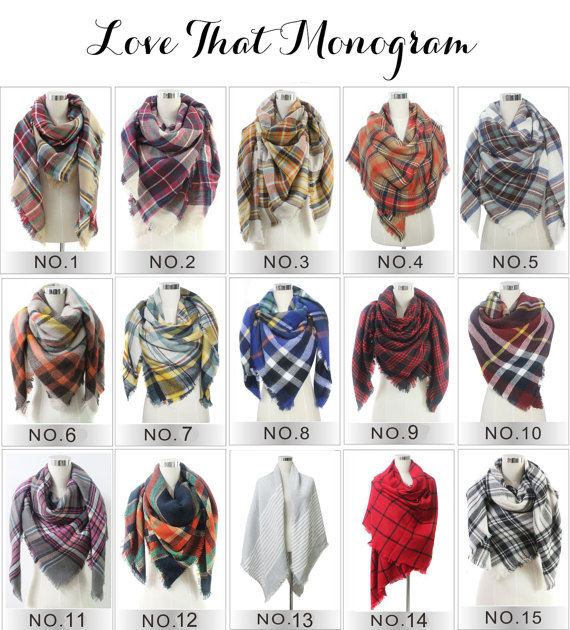 Plaid Blanket Scarf FAST Shipping Plaid Scarf font b Tartan b font Scarf woman lady Scarf