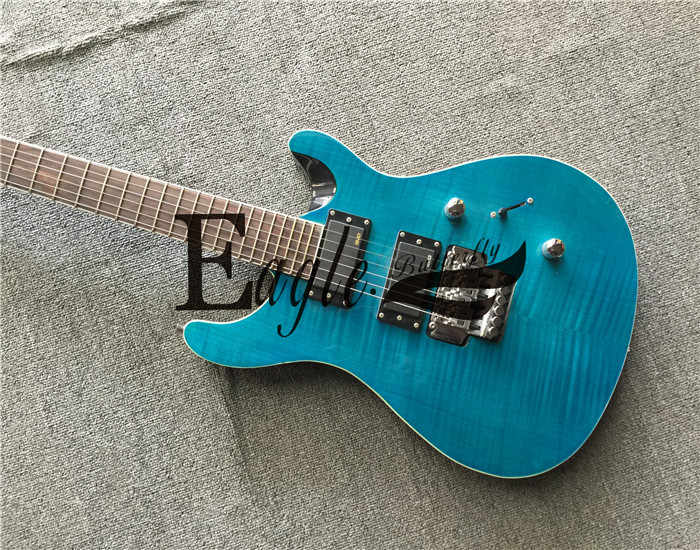 Орел. Бабочка электрогитара, бас custom shop, 24 Двойной Пламя клен шпон PS синий Электрогитара в наличии