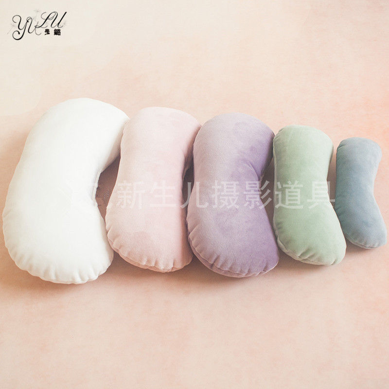 High Quality Newborn Photography Prop Posing Beans Bag ,5 Set Baby Bone/Crescent Pillow Newborn Infant Positioner
