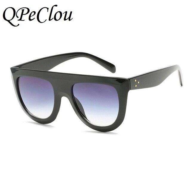 5e66702f388a52 QPeClou Men Women Brand Design Big Frame Sunglasses Sexy Leopard Sun Glass  Clear Glasses Female