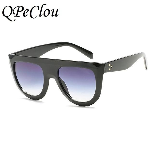 QPeClou Men Women Brand Design Big Frame Sunglasses Sexy Leopard Sun Glass  Clear Glasses Female 102dcf246357