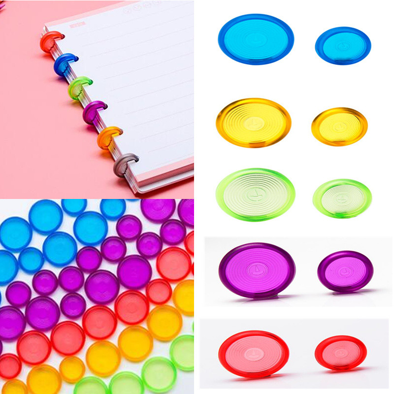 DISCBOUND DISCS 100pcs Discbound Ring Binder 18mm/24mm Colorful Discbound Ring Made Of ABS Material For Notebook CX19-004