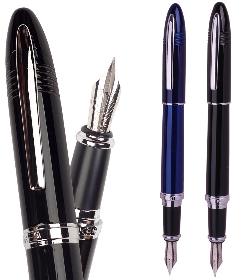 Fountain Pen Shark Style DUKE 911 2 colors to choose  office and school stationery Free  Shipping fountain pen rollerball pen 9 colors to choose from jinhao 699 office and school pen wholesale 24pcs lot free shipping