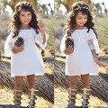 Da Menina de flor Crianças Princesa Lace Vestidos de Casamento Vestido de Festa Pageant Vestido Formal