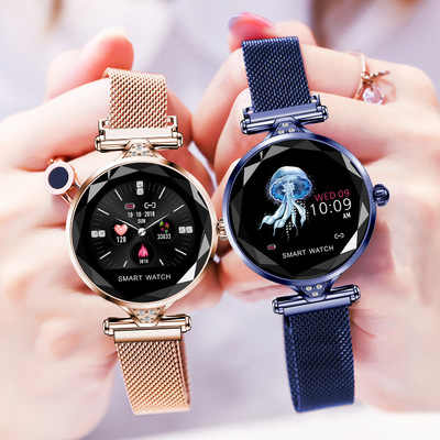 2019 אופנה יוקרה נשים חכם שעון קצב לב לחץ דם צג גשש כושר בהירות התאמת Smartwatch