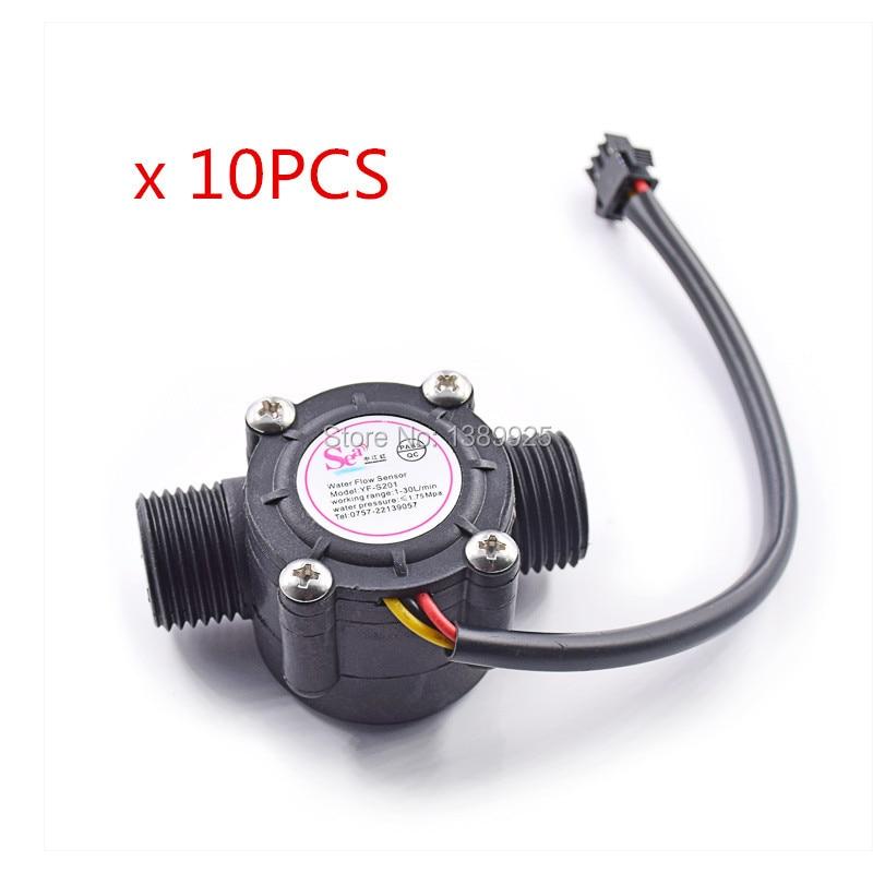 10pcs/lot Water Control Module 1-30L/min 2.0MPa YF-S201