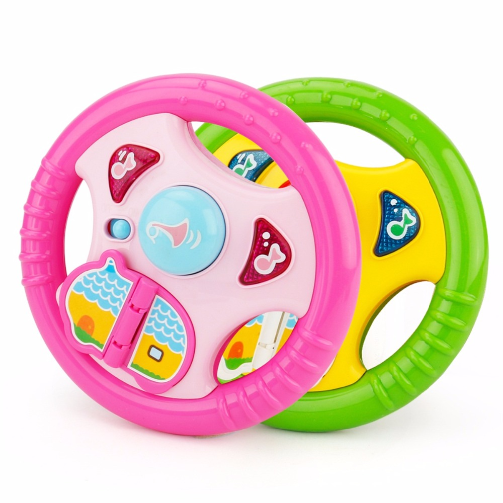 Brettble Toy Developing Educational Musical Instruments Baby Steering Wheel Musical Handbell Toys for Kids Children Gift Fun