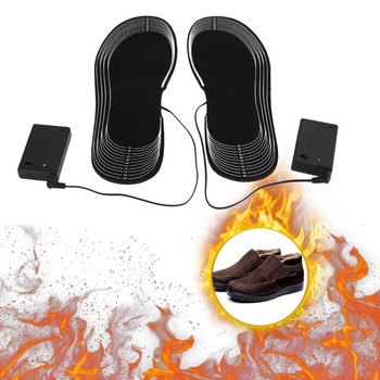 Unisex 1 Pair Cuttable Carbon Fiber Boot Insoles Foot Warmer Winter Shoes Pads Cushions Shoe Accessories Suitable For Size 35-45 Electric Heaters