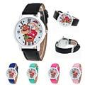New Casual Watch Christmas Clock Women Elderly Pattern Leather Band Analog Quartz Watch Children's watches Feida
