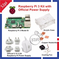 Raspberry Pi 3 Kit With Official Raspberry Pi Power Supply AU US EU UK Plug Acrylic