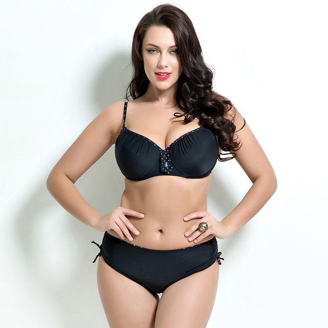 917e1b8eb156e6 US $23.3 |fat wear plus size bikini set Bathing Suit Push up bikinis women  Large Cup Bikini set Women Swimwear Sexy plus size Swimsuit-in Bikinis Set  ...