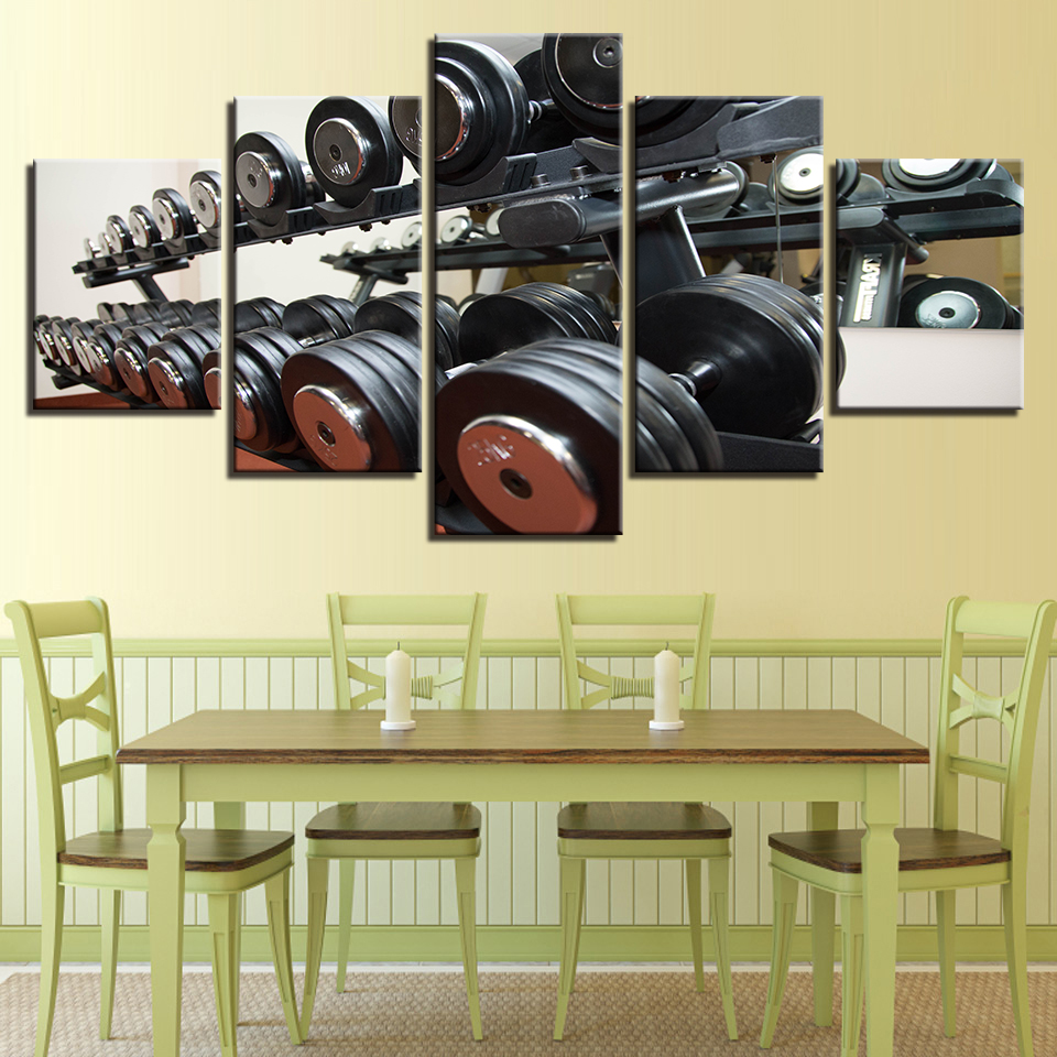 Canvas Pictures Wall Art Framework Living Room Home Decor 5 Pieces ...