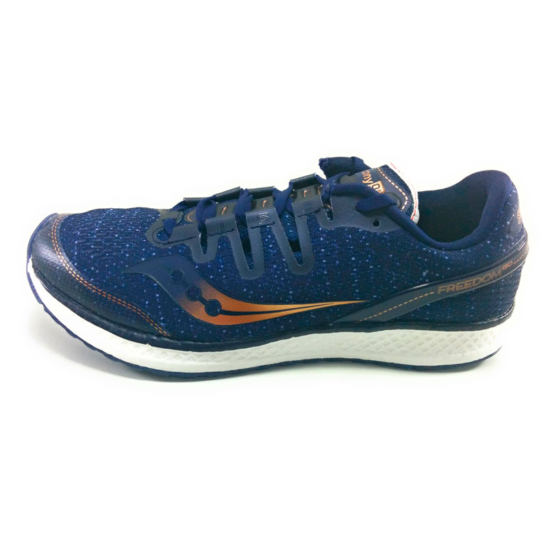 Saucony freedom iso MAN RUNNING font b SHOES b font Synthetic transpiration blue high durability performance