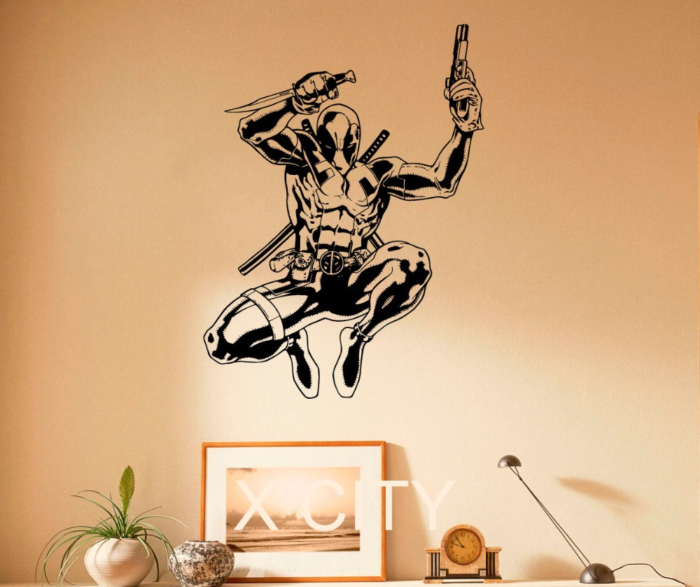 Deadpool Decal Comics Antihero Vinyl Sticker Comic Book Character ...