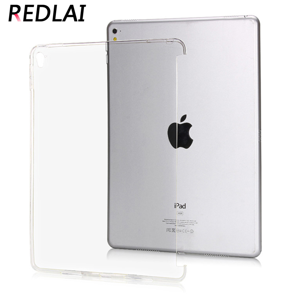 Redlai TPU Soft Matte & Crystal Transparent Trimming partner shell Silicone Back Protective Case For iPad Pro 9.7 inch New Style